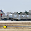 An American Eagle flight prepares for takeoff at Tyler Pounds Regional Airport in Tyler, Texas, on Monday, Feb. 5, 2018. 5,300 feet of the new runway has been completed, with the final 3,000 feet still under construction and expected to be completed this fall. (Chelsea Purgahn/Tyler Morning Telegraph)