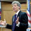 "Defense attorney Seth Temin delivers his closing arguments to the jury on Wednesday, March 21, during the second-degree murder trial of Adam Raszynski at the Boulder County Justice Center in Boulder. Raszynski is on trial for the murder of his mother Rita Redford. For more photos of the trial go to  <a href=""http://www.dailycamera.com"">http://www.dailycamera.com</a><br /> Jeremy Papasso/ Camera"