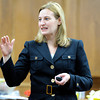 "Prosecutor Adrian Van Nice delivers her closing arguments to the jury on Wednesday, March 21, during the second-degree murder trial of Adam Raszynski at the Boulder County Justice Center in Boulder. Raszynski is on trial for the murder of his mother Rita Redford. For more photos of the trial go to  <a href=""http://www.dailycamera.com"">http://www.dailycamera.com</a><br /> Jeremy Papasso/ Camera"