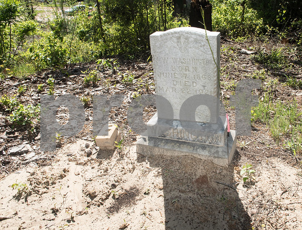 A headstone is pictured at the Dickson Colored Orphanage cemetery in Gilmer, Texas.   (Sarah A. Miller/Tyler Morning Telegraph)