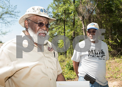 Eddie Turner of Gilmer talks about the effort it took to uncover the cemetery at the former Dickson Colored Orphanage grounds in Gilmer, Texas.   (Sarah A. Miller/Tyler Morning Telegraph)