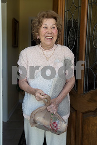 Margarita Fraga of Tyler smiles after receiving food at her home from Meals on Wheels Ministry Thursday March 30, 2017. Meals on Wheels Ministry currently serves 3,000 seniors and homebound individuals in 30 communities across six counties including Gregg, Henderson, Smith, Upshur, Van Zandt, and Wood counties.  (Sarah A. Miller/Tyler Morning Telegraph)
