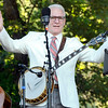 "Actor Steve Martin greets the crowd before performing with The Steep Canyon Rangers on Saturday, July 30, during the 39th annual RockyGrass Festival at The Planet Bluegrass Ranch in Lyons. For more photos and a video of the festival go to  <a href=""http://www.dailycamera.com"">http://www.dailycamera.com</a><br /> Jeremy Papasso/ Camera"