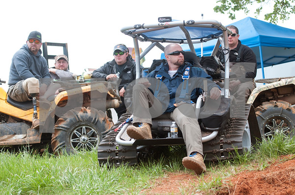 Matt Neitzke of Phoenix, Arizona, gets comfortable to watch the Arctic Cat Mudda Cross event Friday afternoon April 1, 2016 at the High Lifter ATV Mud Nationals presented by Polaris at Mud Creek Off-Road Park in Jacksonville.  (Sarah A. Miller/Tyler Morning Telegraph)