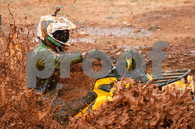 A rider competes in the Arctic Cat Mudda Cross event Friday afternoon April 1, 2016 at the High Lifter ATV Mud Nationals presented by Polaris at Mud Creek Off-Road Park in Jacksonville.  (Sarah A. Miller/Tyler Morning Telegraph)
