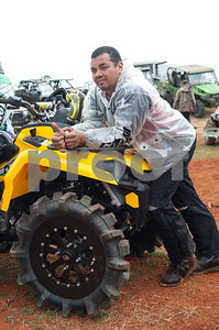 Jeovany Pinilla of Houston is pictured before competing in the Arctic Cat Mudda Cross event Friday afternoon April 1, 2016 at the High Lifter ATV Mud Nationals presented by Polaris at Mud Creek Off-Road Park in Jacksonville.  (Sarah A. Miller/Tyler Morning Telegraph)