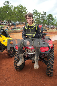 Kevin Badin of Homa, Louisiana is pictured before competing in the Arctic Cat Mudda Cross event Friday afternoon April 1, 2016 at the High Lifter ATV Mud Nationals presented by Polaris at Mud Creek Off-Road Park in Jacksonville.  (Sarah A. Miller/Tyler Morning Telegraph)