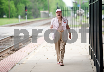 photo by Sarah A. Miller/Tyler Morning Telegraph  Mineola station host Martha Moreland waits for the Texas Eagle Amtrak train to arrive Thursday April 9, 2015. The Amtrak train offers coach cars, a lounge car, a sleeper car and dining car along this route stopping in 41 cities from Chicago to Los Angeles.