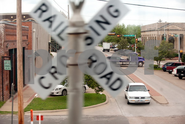 photo by Sarah A. Miller/Tyler Morning Telegraph  The Texas Eagle Amtrak train passes through Terrell, Texas on its way to Dallas Union Station Thursday April 9, 2015.
