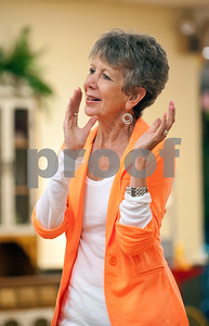 photo by Sarah A. Miller/Tyler Morning Telegraph  Barbara Farnum of Tyler dances during clogging practice Tuesday April 14, 2015 at the Tyler Senior Center.
