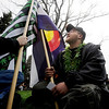"Jeremy Scherb, with the Colorado state flag, drove up from Colorado Springs for the CU 4/ 20 celebration.<br /> Several hundred people made their way to the CU campus to indulge in marijuana on 4/20. For several videos and photos of the events, go to  <a href=""http://www.dailycamera.com"">http://www.dailycamera.com</a>.<br /> Cliff Grassmick/ April 20, 2011"