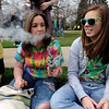 "McKenzie Lange, left, and Delaney Chandler, begin their 4/20 pot smoking experience on Wednesday.<br /> Several hundred people made their way to the CU campus to indulge in marijuana on 4/20. For several videos and photos of the events, go to  <a href=""http://www.dailycamera.com"">http://www.dailycamera.com</a>.<br /> Cliff Grassmick/ April 20, 2011"