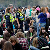 0420SMOKE2.jpg Members of the Boulder Police Department and University of Colorado Police Department wander through the crowd during the 4/20 event on Norlin Quad at the University of Colorado in Boulder, Colorado April 20, 2010.  CAMERA/Mark Leffingwell