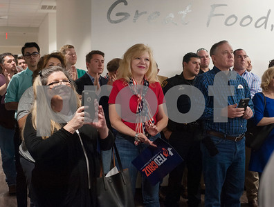 People attend a re-election campaign stop event in Tyler for United States Sen. Ted Cruz, R-Tx., at John Soules Foods on Monday April 2, 2018.    (Sarah A. Miller/Tyler Morning Telegraph)