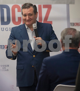 United States Sen. Ted Cruz, R-Tx., speaks during a re-election campaign stop in Tyler at John Soules Foods on Monday April 2, 2018.    (Sarah A. Miller/Tyler Morning Telegraph)