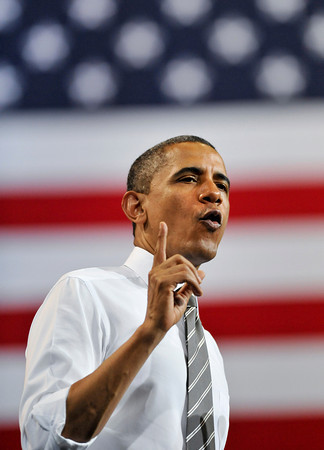President Barack Obama speaks at the Coors Events Center at the University of Colorado in Boulder on Tuesday, April 24, 2012.<br /> <br /> (Greg Lindstrom/Times-Call)