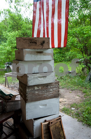 photo by Sarah A. Miller/Tyler Morning Telegraph  Beekeeper Dick Counts makes his own boxes for beehives, pictured here April 23, at his home in Chapel Hill. Counts is president of the East Texas Beekeepers Association.