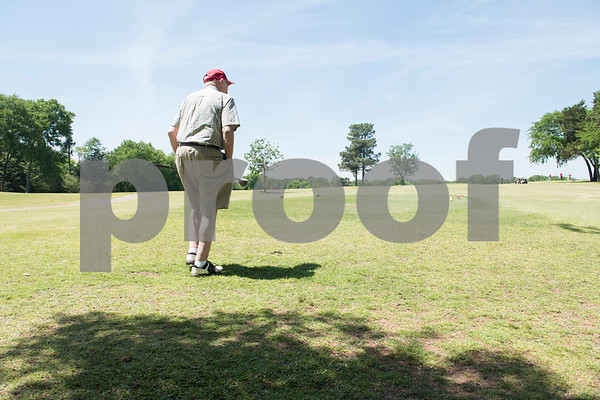 JW Gresham, 97, walks on the course during the Sharon Shriners Golf Tournament on April 7, 2017 at Pine Springs Golf Club in Tyler.  (Sarah A. Miller/Tyler Morning Telegraph)