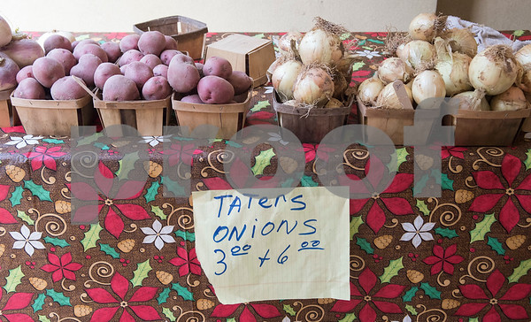 Vegetables from the East Texas State Fair Farmer's Market are for sale outside of the WIC office on Amherst in Tyler May 11, 2017. Beginning Thursday, May 11th, and running every Thursday morning until July 27th, NET Health is operating the Farmers Market & Block Party at both of the Tyler NET Health WIC locations - 815 North Broadway and 225 East Amherst.  Each event will be held every Thursday morning from 8:30 a.m. until 12:00 p.m.  (Sarah A. Miller/Tyler Morning Telegraph)