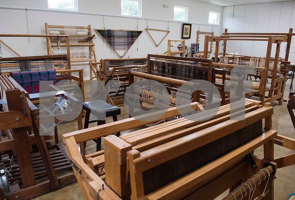 Looms are pictured at the Mineola League of the Arts Wednesday May 10, 2017. The center has a new fiber arts building were people can learn the art of weaving and other fiber arts.   (Sarah A. Miller/Tyler Morning Telegraph)