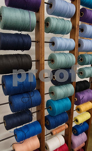 Supplies of yarn are pictured at the Mineola League of the Arts Wednesday May 10, 2017. The center has a new fiber arts building were people can learn the art of weaving and other fiber arts.   (Sarah A. Miller/Tyler Morning Telegraph)