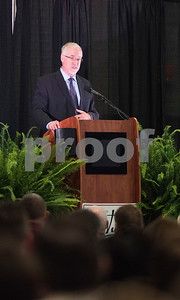 Tyler Mayor Martin Heines speaks at the State of the City Address at Harvey Hall Convention Center Wednesday May 17, 2017.  (Sarah A. Miller/Tyler Morning Telegraph)