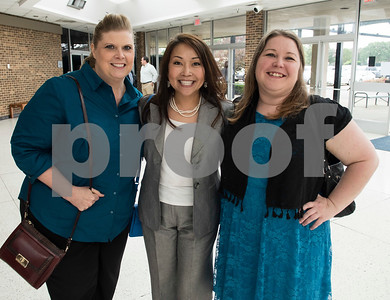 Melissa Jones, Mechele Mills and Tamera Jinks attend the State of the City Address at Harvey Hall Convention Center Wednesday May 17, 2017.  (Sarah A. Miller/Tyler Morning Telegraph)