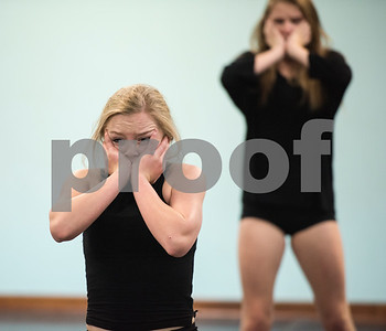 """Dancers Lindey Thomas and Amy Ashley scream as part of the  choreography of a dance titled """"Trafficking"""" by Artistic Dance Concepts instructor Bonnie Hotman-Pehl. """"Trafficking"""" takes on the serious issue of human trafficking. A video of the dance posted to YouTube has been viewed several thousand times.  (Sarah A. Miller/Tyler Morning Telegraph)"""