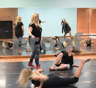 "Bonnie Hotman-Pehl instructs her dancers during a practice of the choreography of a dance titled ""Trafficking"" May 18, 2016. ""Trafficking"" takes on the serious issue of human trafficking. A video of the dance posted to YouTube has been viewed several thousand times.  (Sarah A. Miller/Tyler Morning Telegraph)"
