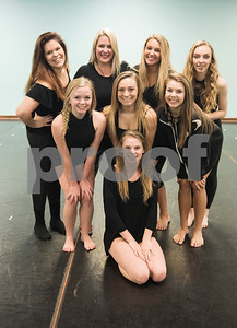 Members of the Artistic Dance Concepts include: (back row from left to right) Kenzi Payne, instructor Bonnie Hotman Pehl, Cortni Amburgy, Ella Cox (middle row) Lindey Thomas, Sara Goforth, Sloane Wylie (front row) Amy Ashley.   (Sarah A. Miller/Tyler Morning Telegraph)