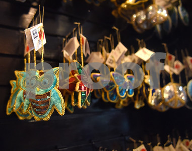 Fair trade decorations from around the world are pictured at Come Together Trading in Tyler Thursday May 19, 2016. The fair trade shop is closing its Tyler location to take the store on the road for outdoor events, festivals, and shows. The store will still exist online as cometogethertrading.com and a mini-market is featured at Fly & Love Yoga Lounge in Flint.  (Sarah A. Miller/Tyler Morning Telegraph)