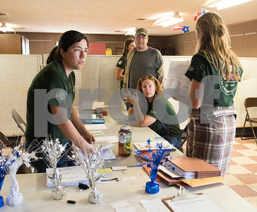 Volunteers from Americorps set up at the Van Zandt County Fairgrounds in Canton, Texas Tuesday May 2, 2017.   (Sarah A. Miller/Tyler Morning Telegraph)