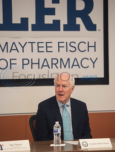 U.S. Senator John Cornyn (R-TX) hosts a roundtable discussion on Wednesday May 29, 2019 at W.T. Brookshire Hall at The University of Texas at Tyler on opioid addiction and how legislation which was recently signed into law, the SUPPORT for Patients and Communities Act. Representatives from The University of Texas at Tyler's Pharmacy School, the East Texas Council on Alcoholism and Drug Abuse, local health care providers, law enforcement officers, and community leaders discussed their efforts to help those with substance abuse problems get into treatment and recovery programs, and how to work to prevent illegal drug use. Following the roundtable, Sen. Cornyn toured UT-Tyler's Fisch College of Pharmacy.  (Sarah A. Miller/Tyler Morning Telegraph)