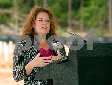 photo by Sarah A. Miller/Tyler Morning Telegraph  Lisa Stephens speaks about the new Saige Meadows  apartment complex at the groundbreaking ceremony in Tyler Wednesday. The new housing development is located at 13488 Hwy 69 North.