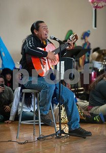 Antonio Tec of Tyler sings a Mexican song at Dogan Middle School during the Cinco de Mayo program held at the school in Tyler Friday May 8, 2015.   (photo by Sarah A. Miller/Tyler Morning Telegraph)