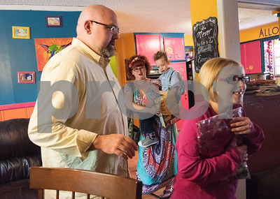 Robert and Jessica Ogden and Alfie and Krystal head out to Krystal's adult daycare musical performance April 10, 2016.   (Sarah A. Miller/Tyler Morning Telegraph)