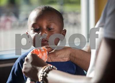 Family and friends ate a free dinner with William White, 6, of Tyler, during a party hosted by Whataburger at Whataburger #1107 in Tyler on Tuesday June 26, 2018. William has autism, and going to Whataburger is one of his favorite things. Whataburger found out about his love for their restaurant and held a party for him.  (Sarah A. Miller/Tyler Morning Telegraph)