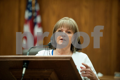 Smith Smith County Clerk Karen Phillips speaks at a press conference Friday. Phillips stated that the county will not yet legalize gay marriage.   (photo by Sarah A. Miller/Tyler Morning Telegraph)