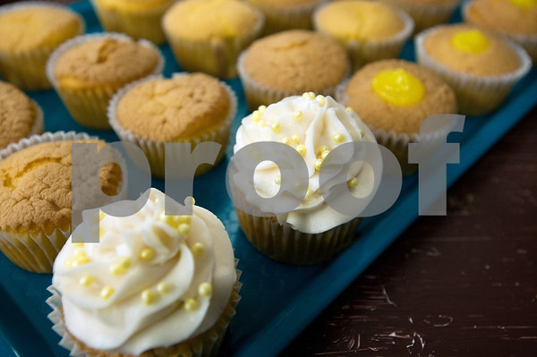 photo by Sarah A. Miller/Tyler Morning Telegraph  Pictured here are lemon cream cupcakes in various stages of completion at The Luscious Crumb in Mineola Wednesday.