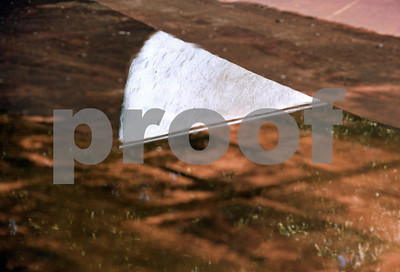 photo by Sarah A. Miller  A skate ramp is reflected in a large puddle in a flooded section of Noble E. Young Skatepark after a brief downpour June 9, 2015. The East Texas Skatepark Association hopes to make improvements to Tyler's skatepark.