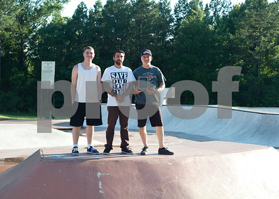 photo by Sarah A. Miller  East Texas Skatepark Association representatives Ben Jordan, 19, Mike Minter, 34, and Jeff Reeves, 51, have dedicated themselves to improving Tyler's Noble E. Young Skatepark and the broader East Texas skateboarding community.