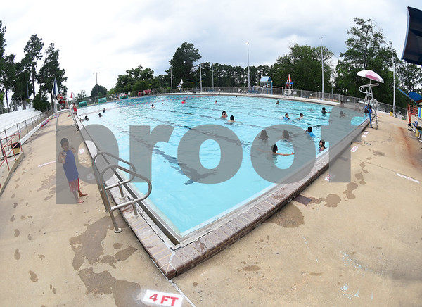 Fun Forest pool, 900 N. Glenwood Blvd., opened Saturday June 4, 2016. This free city pool will be open from June 4 to Aug. 13 Tuesdays through Thursdays from 1 to 6 p.m. and Fridays and Saturday from 1 to 7 p.m. for open swim. Lap swim is available on Tuesdays and Thursdays from 6 to 8 p.m. The City of Tyler Parks and Recreation Department is still looking for qualified lifeguards to work at both Fun Forest and Woldert pools.  (Sarah A. Miller/Tyler Morning Telegraph)