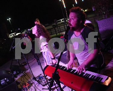 Local indie rock band Babe performs at Juls Saturday July 30, 2016. Pictured on vocals is Evan Manning on vocals and Jed Riley McNeil on keyboards and vocals.  (Sarah A. Miller/Tyler Morning Telegraph)