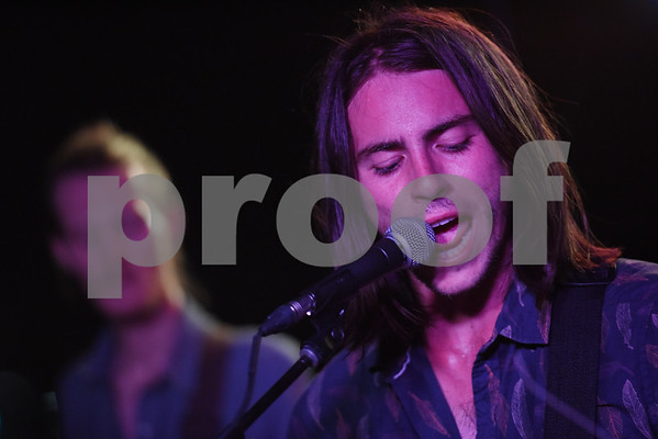 Julian Marcos Hood sings with Tyler-based indie rock band Babe at Juls Saturday July 30, 2016. Babe will be in concert Saturday August 6 with O-Ren, Kinfolk, and Out of the Question at 7p.m. at The Fish House, 3708 Shiloh Road in Tyler.   (Sarah A. Miller/Tyler Morning Telegraph)