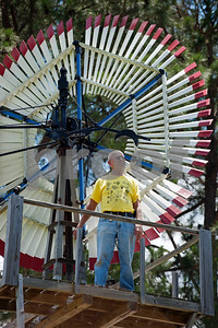 Windmill collector Wayne Rogers is pictured at his home in New Harmony.  (photo by Sarah A. Miller/Tyler Morning Telegraph)