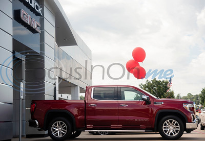 Phil Smith of Whitehouse was the winner of this 2019 GMC Sierra SLT Crew Cab Cattle Barons' Edition from a raffle at the Cattle Barons' Gala. The Cattle Barons' Gala is the primary fundraiser for the American Cancer Society in Tyler.  (Sarah A. Miller/Tyler Morning Telegraph)