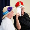 BEN GARVER — THE BERKSHIRE EAGLE<br /> Flo Brett and Roger Gutwillig performed comedy act called CORNAC the Mediocre during the 7th Annual Froio Variety Show at the senior center in Pittsfield.