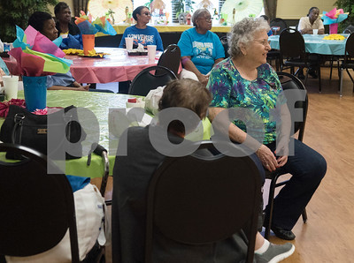 People learn about the CarFit program at the Tyler Senior Center Wednesday. CarFit is a program that gives older adults the opportunity to check how well their personal vehicles fit them  (Sarah A. Miller/Tyler Morning Telegraph)