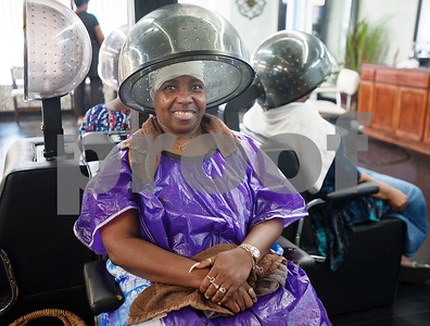 Charlean Butler sits under a hair dryer Wednesday Aug. 12, 2015 at Elite Salon in Tyler. Seven stylists work at Elite Salon, 130 N Glenwood Blvd in Tyler.  (Sarah A. Miller/Tyler Morning Telegraph)