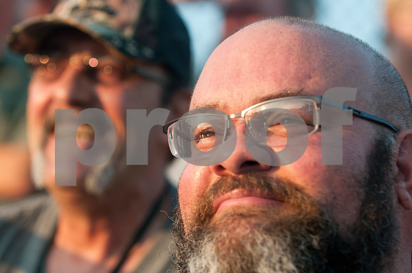 Robert Chiasson watches his son's football Friday night  Aug. 28, 2015. The Chiassons evacuated to East Texas during Hurricane Katrina. They lived in St. Bernard Parish.    (Sarah A. Miller/Tyler Morning Telegraph)